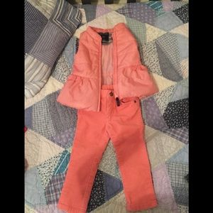 Nautica puffer vest and carters Corduroy pants